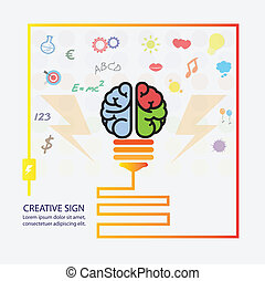 fundo, criativo, cérebro, idéia, conceito