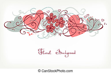 fundo, cute, floral