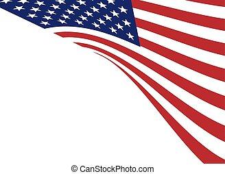 fundo, de, bandeira americana