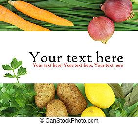 fundo, de, legumes frescos