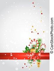 fundo, decoração natal