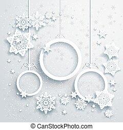 fundo, decorações natal