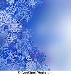 fundo, eps, natal, azul, 8, snowflakes.