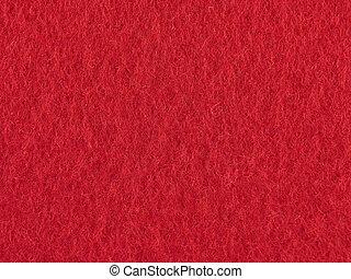 fundo, feltro, vermelho