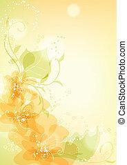 fundo, floral