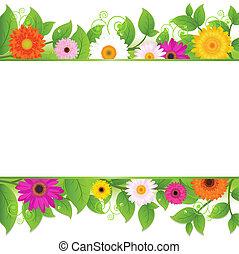 fundo, flores