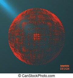 fundo, futurista, abstratos, design.