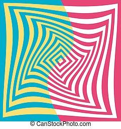 fundo, ilusão óptica