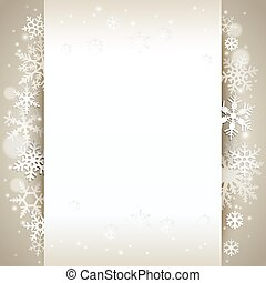 fundo, inverno, cartão