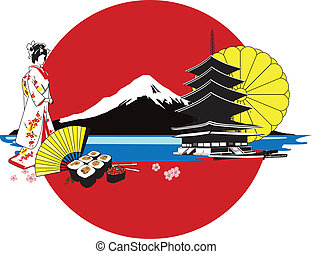 fundo, japoneses, caráteres