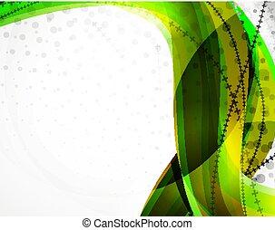 fundo, linha, abstratos, vetorial, onda