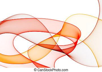 fundo, liso, tons, ondas, branco vermelho