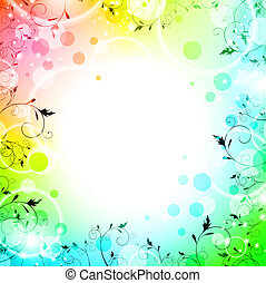 fundo, luminoso, floral