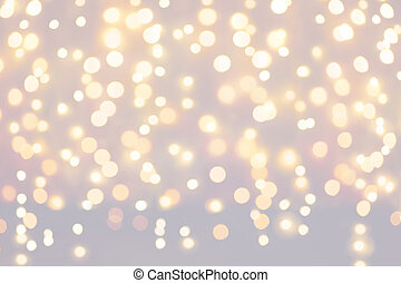 fundo, luz natal, feriados