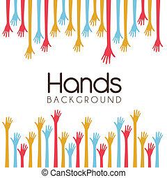 fundo, mãos