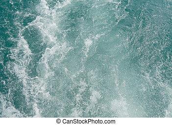 fundo, mar, ondas
