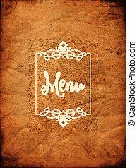 fundo, menu, grunge, decorativo