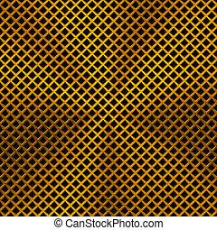 fundo, metal, textura, ouro, circular