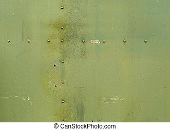 fundo, metal verde