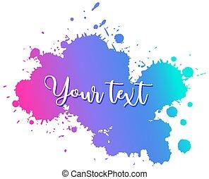 fundo, misturado, branca, aquarela, desenho, respingo, cores