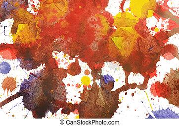 fundo, multi-colorido