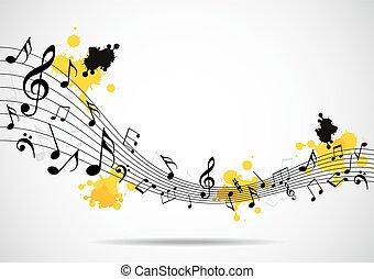 fundo, musical, não, abstratos