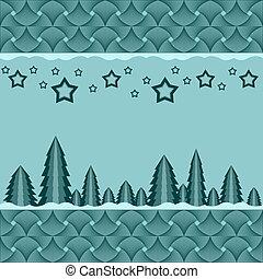 fundo, natal, fir-trees