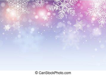 fundo, natal, snowflakes