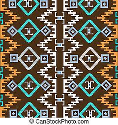 fundo, ornamentos, étnico