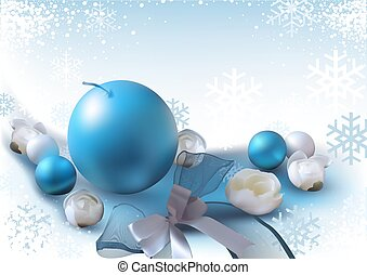 fundo, ornamentos natal