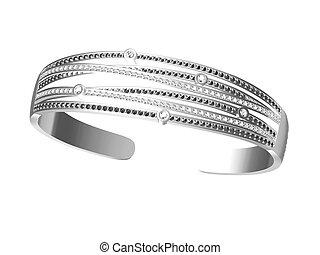 fundo, pulseiras, isolado, branca