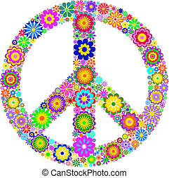 fundo, símbolo, pacífico, branca