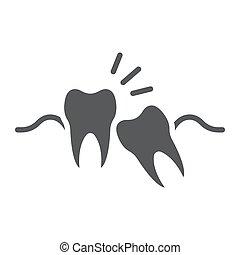 fundo, sabedoria, 10., sólido, impactou, stomatology, sinal, eps, vetorial, padrão, dentes, gráficos, ícone, dente branco, dental, glyph