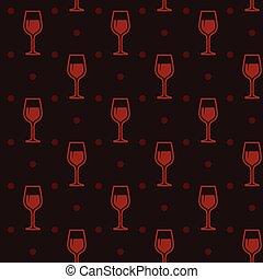 fundo, seamless, wineglasses