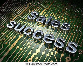 fundo, sucesso, marketing, vendas, tábua, circuito, concept: