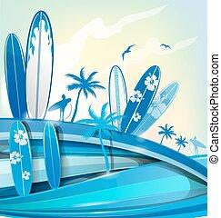 fundo, surfboard