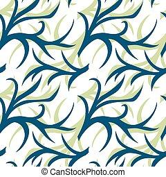 fundo, têxtil, padrão, cobertura, abstratos, twig., envoltório, cor, seamless, dois, tecido