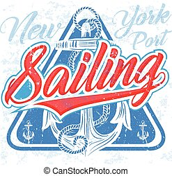 fundo, velejando, cartaz, abstratos, sailboat;, desenho, mar, template., sunset.