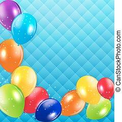 fundo, vetorial, balões, lustroso, ilustração