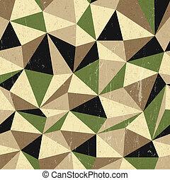 fundo, vetorial, retro, triângulos