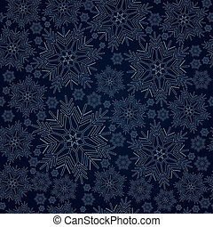 fundo, vetorial, seamless, snowflake
