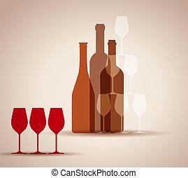 fundo, vinho