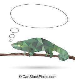 fundos, abstratos, isolado, iguana, branca