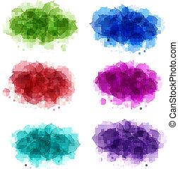 fundos, cobrança, coloridos