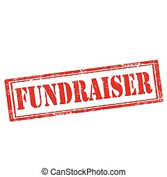 Fundraiser-stamp - Grunge rubber stamp with text...