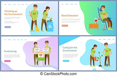 Fundraising and Blood Donation, Cleaning Website