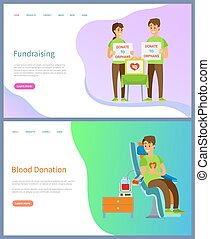 Fundraising and Blood Donation Volunteers Work