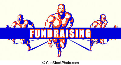 Fundraising as a Competition Concept Illustration Art