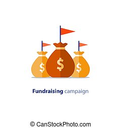 Fundraising campaign, crowdfunding concept, charity...