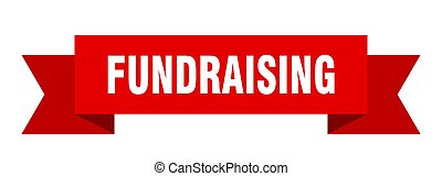 fundraising ribbon. fundraising paper band banner sign